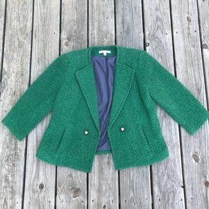 CAbi textured green blazer jacket